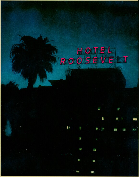 Hollywood Roosevelt Hotel, 2002.­ T-79 4 x 5 Polaroid. | Photo: Jim McHugh.