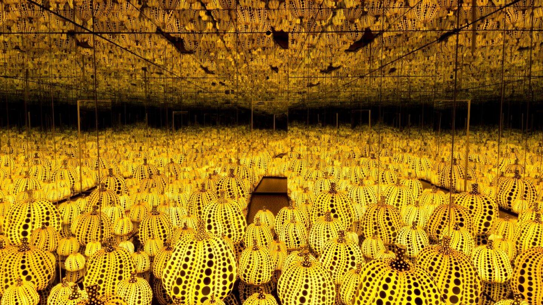 Yayoi Kusama, All the Eternal Love I Have for the Pumpkins, 2016   Collection of the artist. Courtesy of Ota Fine Arts, Tokyo / Singapore and Victoria Miro, London. © Yayoi Kusama
