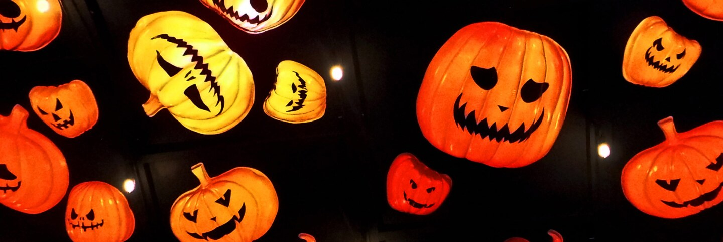 Decorative jack-o'-lanterns at Hauntoween L.A. | Sandi Hemmerlein
