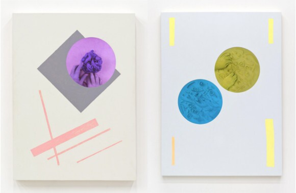 "Brian Bress, ""Clayhands,"" 2014 (left); ""Clayhands X2,"" 2014 (right)."