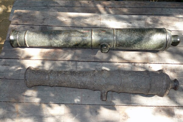 The Historical Society's cannons, veterans of the Mexican-American War.