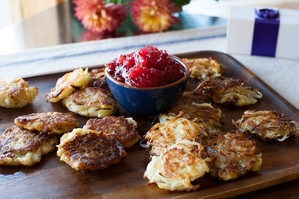Sweet potato latkes. Photo by Karen Florek