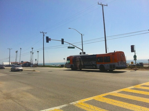 Metro bus at Zuma Beach