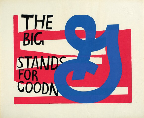 &quot;for eleanor,&quot; 1964. Serigraph on Pellon. 30 x 36 inches. | Collection of Juliette Bellocq. Photograph by Arthur Evans, courtesy of the Tang Museum at Skidmore College.<br />