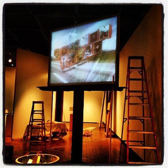 Gallery being prepped for Common Tread | Photo: Evan Senn.
