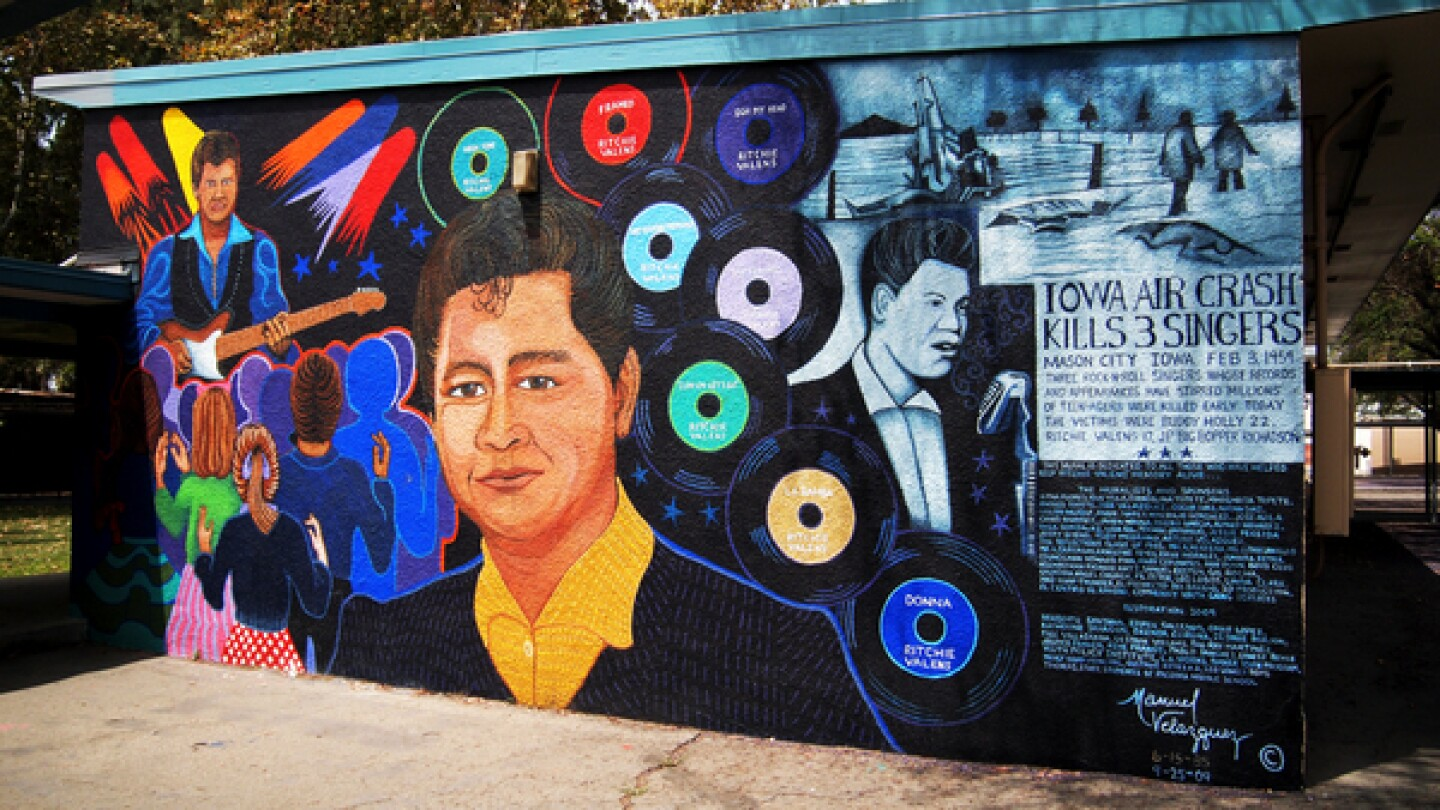 Ritchie Valens by Manny Velazquez, completed in 1985, restored in 2009 I iamsanfernando