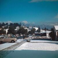 The San Gabriel community of Monterey Park after a 1949 snowstorm