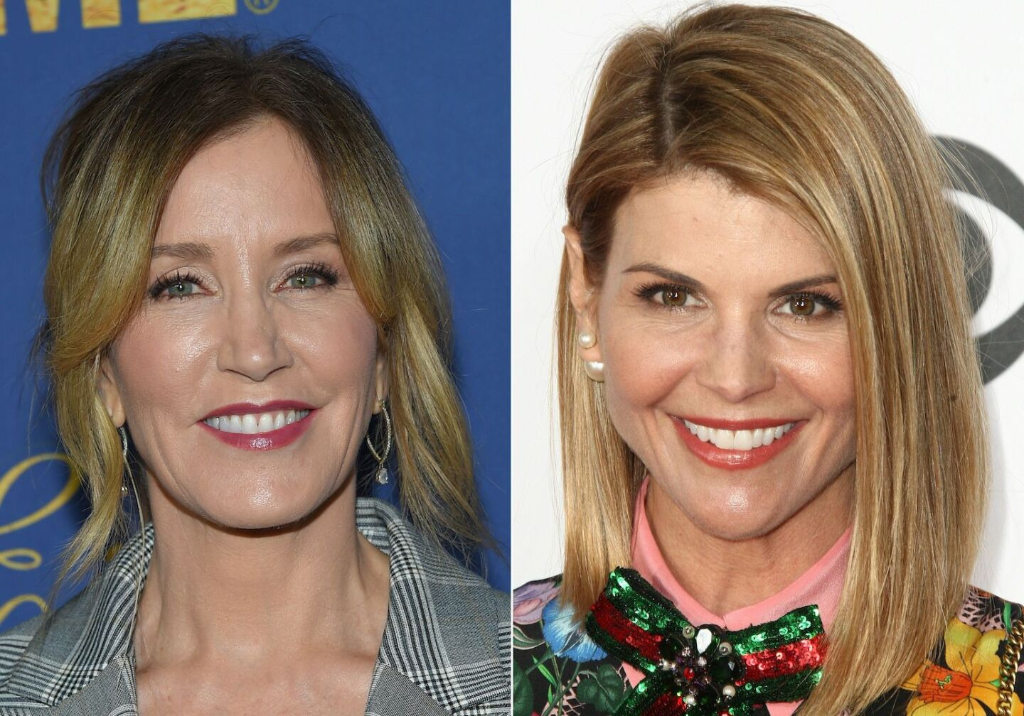 Felicity Huffman and Lori Loughlin, two actressed indicted in college admissions scandal