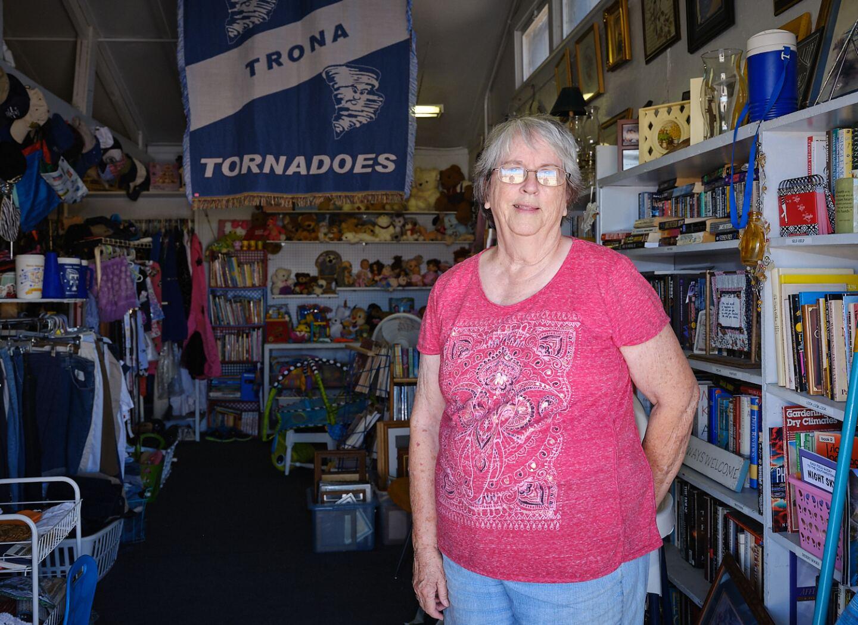 Linda Funke, Thrift shop, Trona, Ca.   Osceola Refetoff