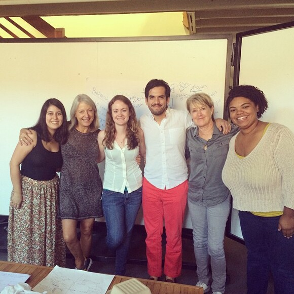 TEAM ANTELOPE VALLEY PROJECT: Amy Sanchez, Laurie Peake (Metabolic Studio Fellow), Tracee Johnson (Graduate Teaching Fellow), Misael Diaz (Cognate Collective with Amy Sanchez), Suzanne Lacy (Program Chair) and Robin Gilliam (Project Manager)
