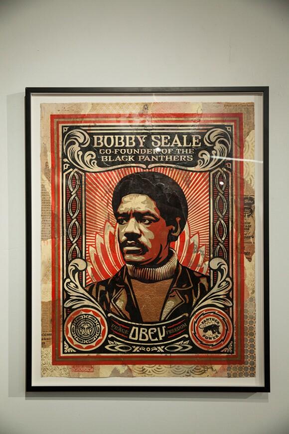 """Bobby Seale"" by Shepard Fairey   Photo: Michael Park"