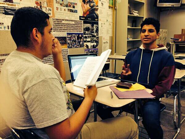 Jay Jay and Andres prepare for their interview