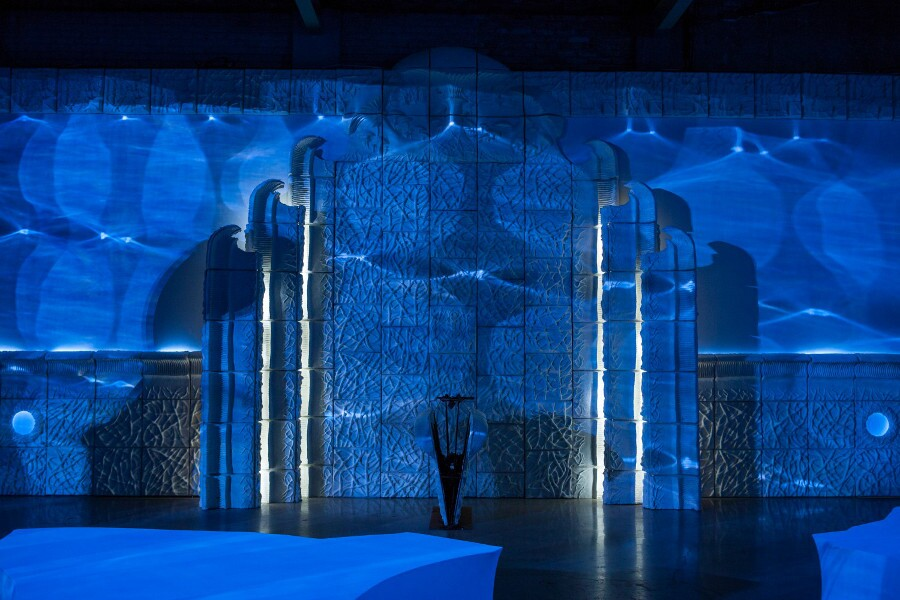 "Charles Long, ""Catalin,"" 2014. Installation view, The Contemporary Austin -- Jones Center, Austin. | Photo: Ben Aqua; courtesy the artist, Ecovative, and Tanya Bonakdar Gallery."