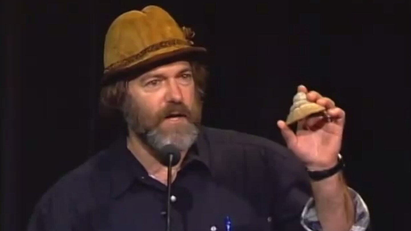 "Still from ""Mushroom Magic"" speech by Paul Stamets at the 2003 Bioneers National Conference."