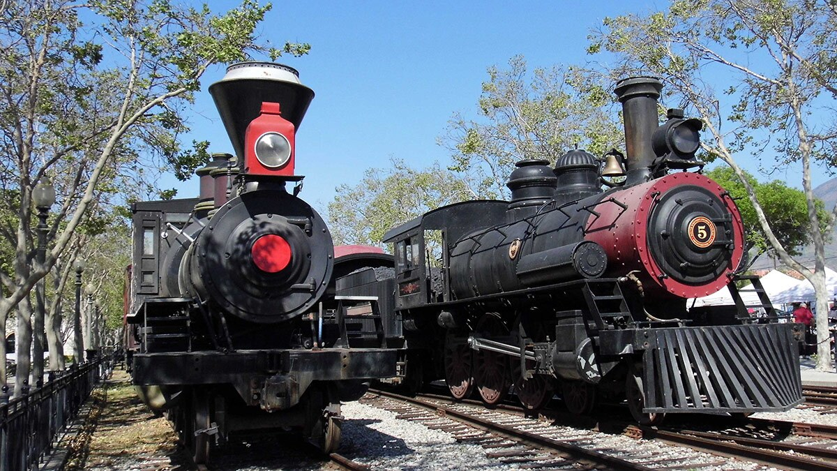 Vintage trains at Fillmore & Western Railway. | Sandi Hemmerlein