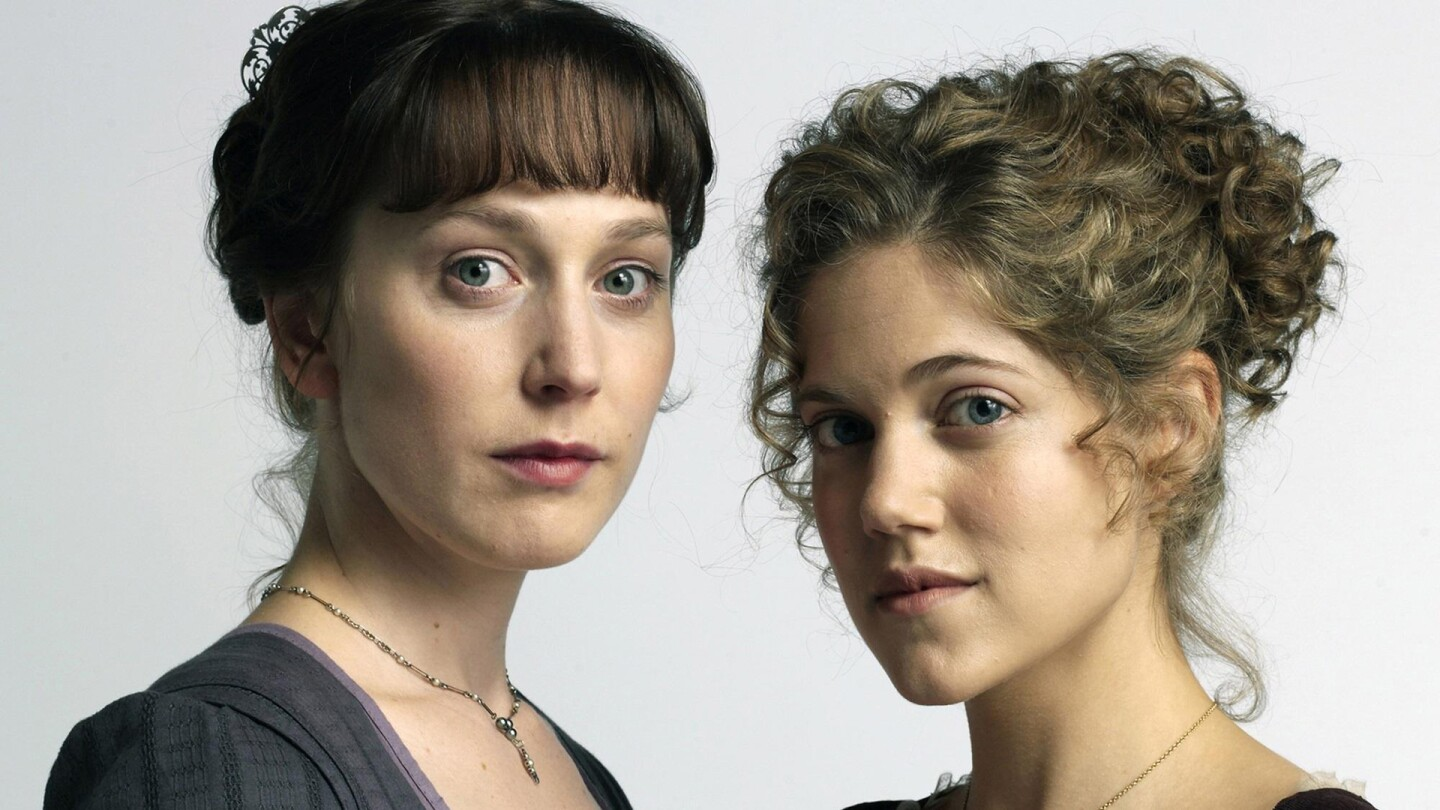 """Hattie Morahan and Charity Wakefield in poster art for """"Sense and Sensibility."""""""