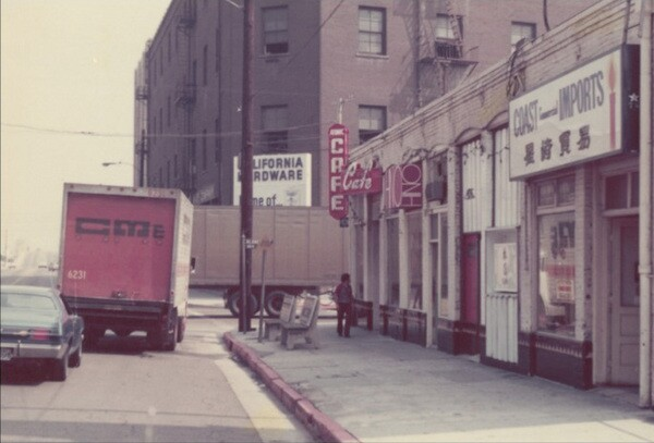 Outside the Atomic Cafe during its punk heyday