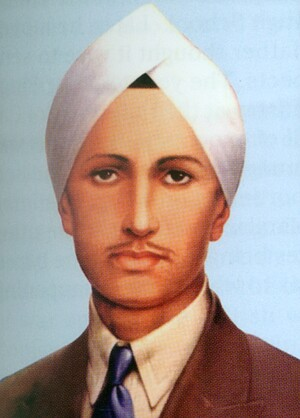 Illustration of a man in a suit wearing a white turban