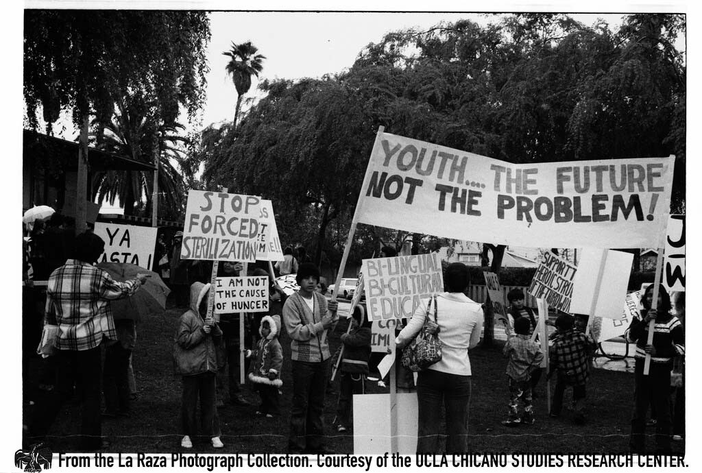 CSRC_LaRaza_B16F3C1_Staff_023 International Women's Day march in East Los Angeles | La Raza photograph collection. Courtesy of UCLA Chicano Studies Research Center
