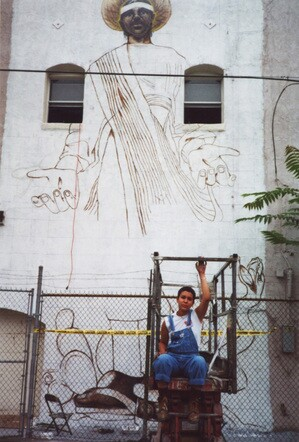 Yamilette with Peasant Saint in 2001 I Courtesy of the artist