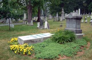 The grave of Frederick Douglass in Mount Hope Cemetery, Rochester, NY.