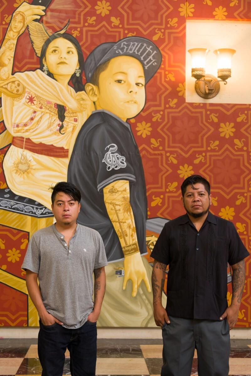 Oaxacan artists Dario Canul and Cosijoesa Cernas of the art collective Tlacolulokos   Jeff McLane PST LA/LA