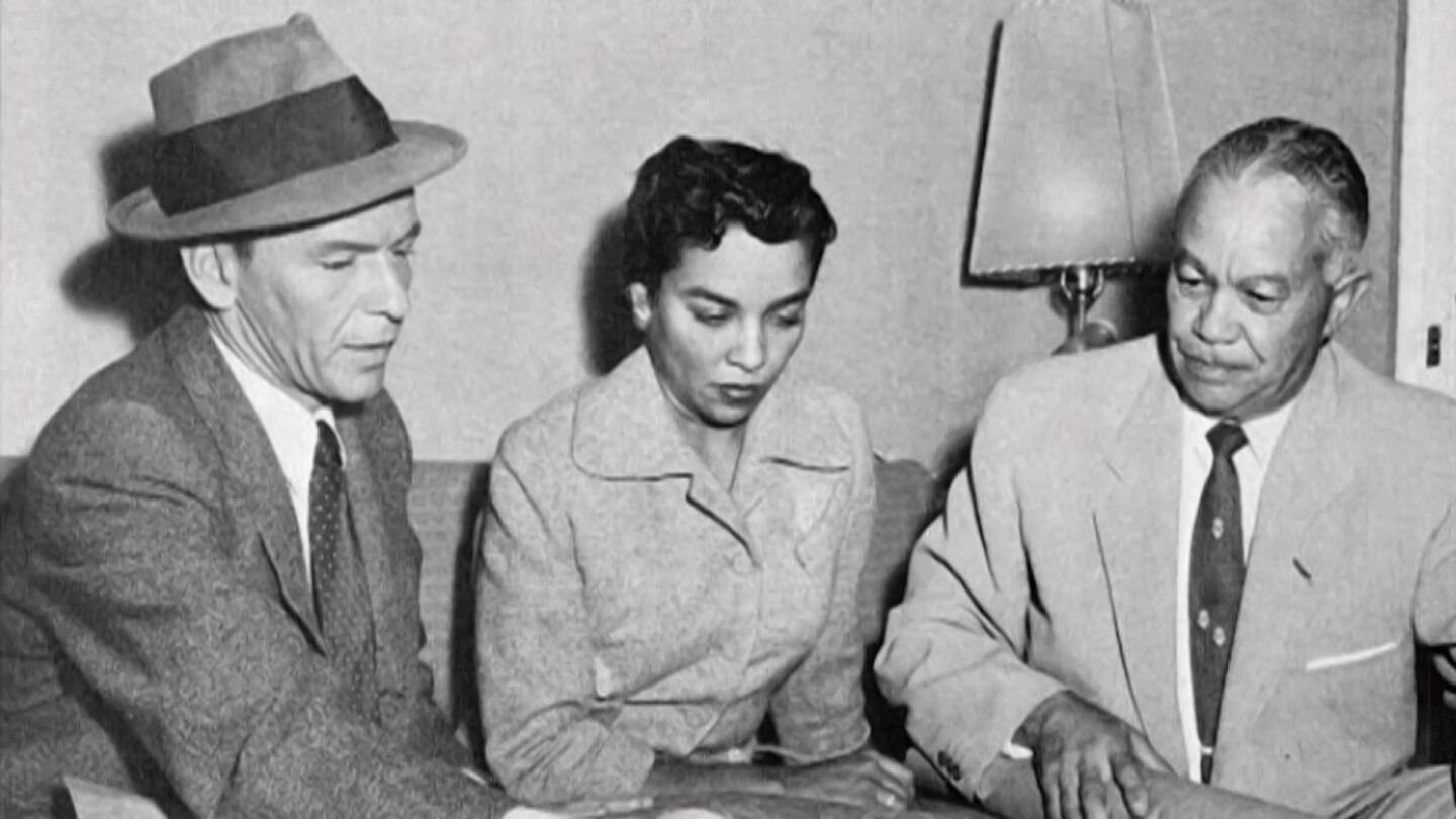 "Paul R. Williams with Frank Sinatra and another woman | Still from ""Hollywood's Architect"""