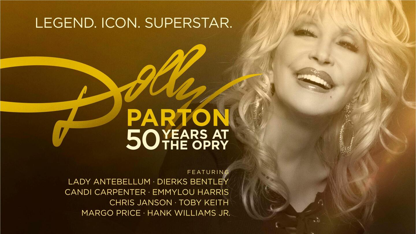 "Key Art for ""Dolly Parton: 50 Years at the Opry"""
