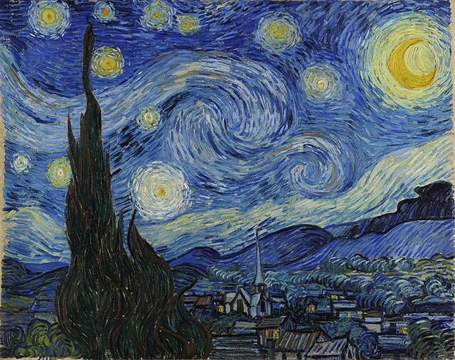 La nuit étoilée (Starry Night), 1889 | Vincent Van Gogh