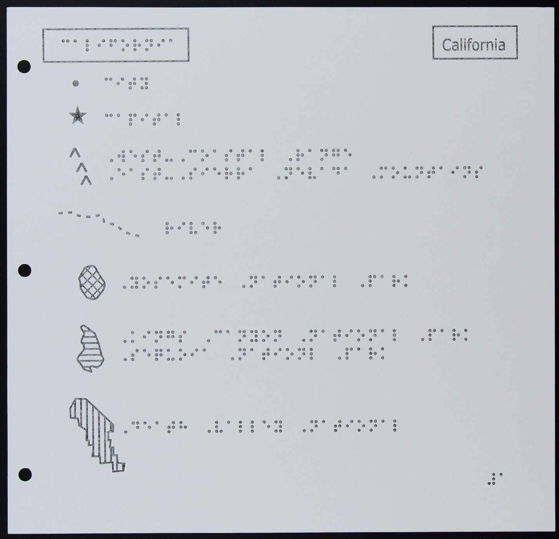 Braille Map of California (Index)