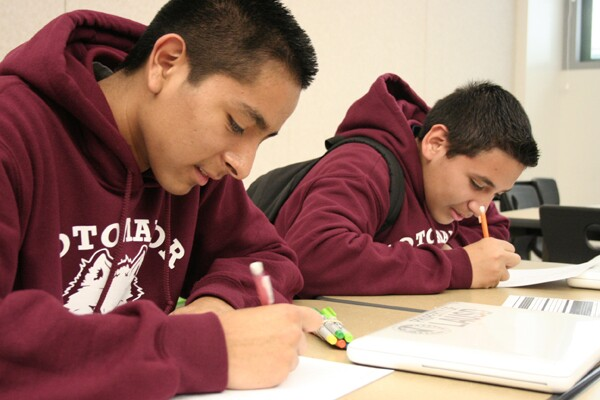 Enrique and Greg from The L.A. River School draw their maps.jpg