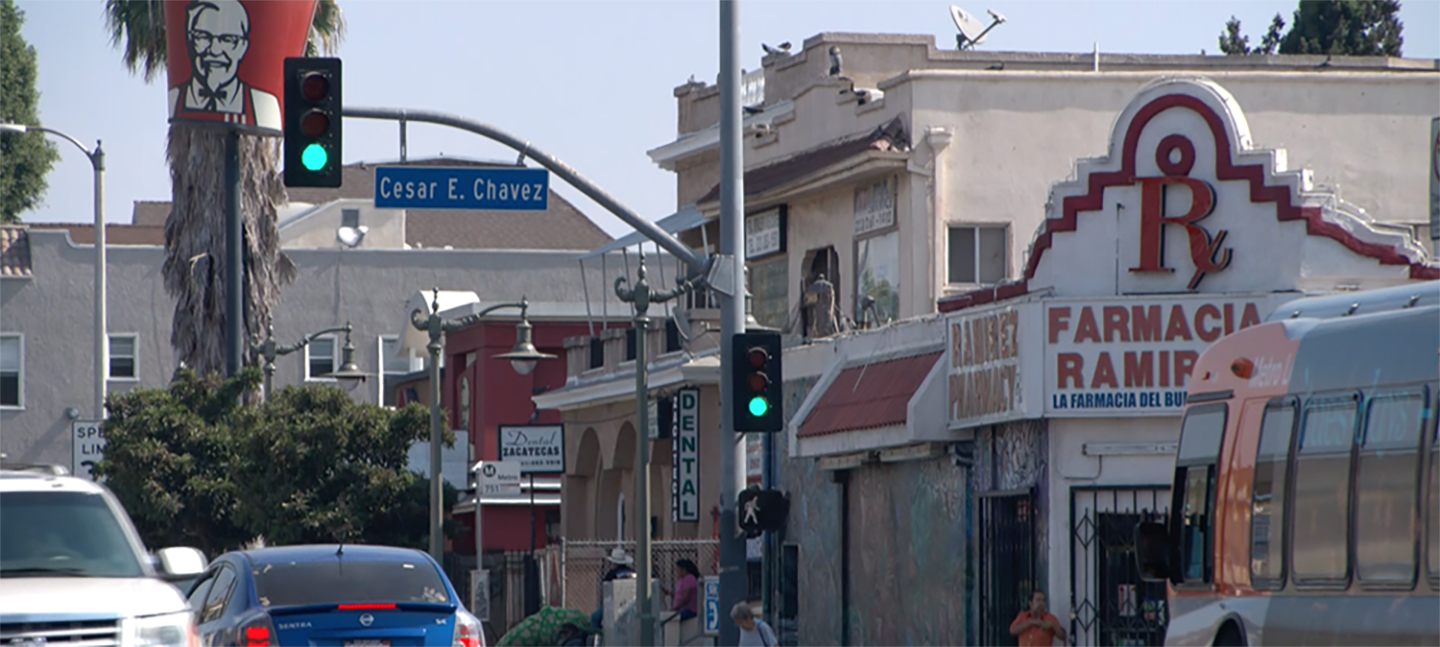 Intersection in Boyle Heights