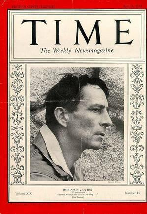 A 1932 Time Weekly Cover featuring poet Robinson Jeffers. Courtesy of Occidental College Archives and Special Collections.