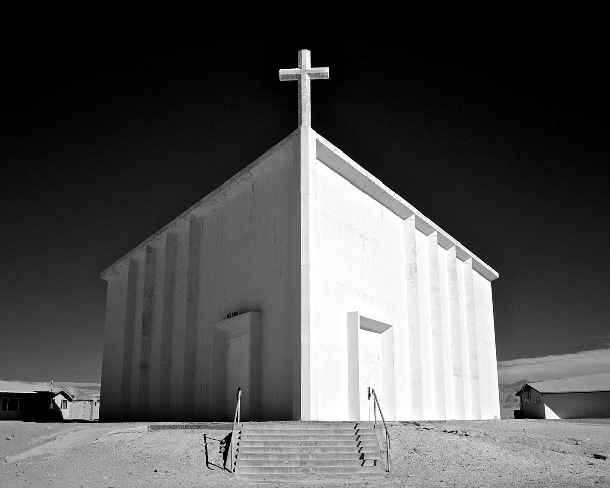 St. Madeleine Catholic Church - Infrared Exposure - Trona, CA - 2010  | Osceola Refetoff