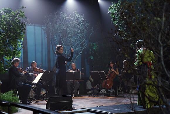 Lisa Bielawa and the Kronos Quartet. | Photo: Remsen Allard