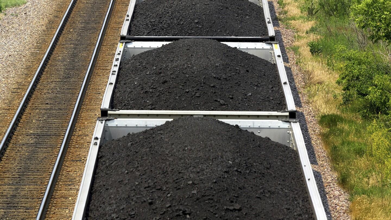 Coal loaded on a train