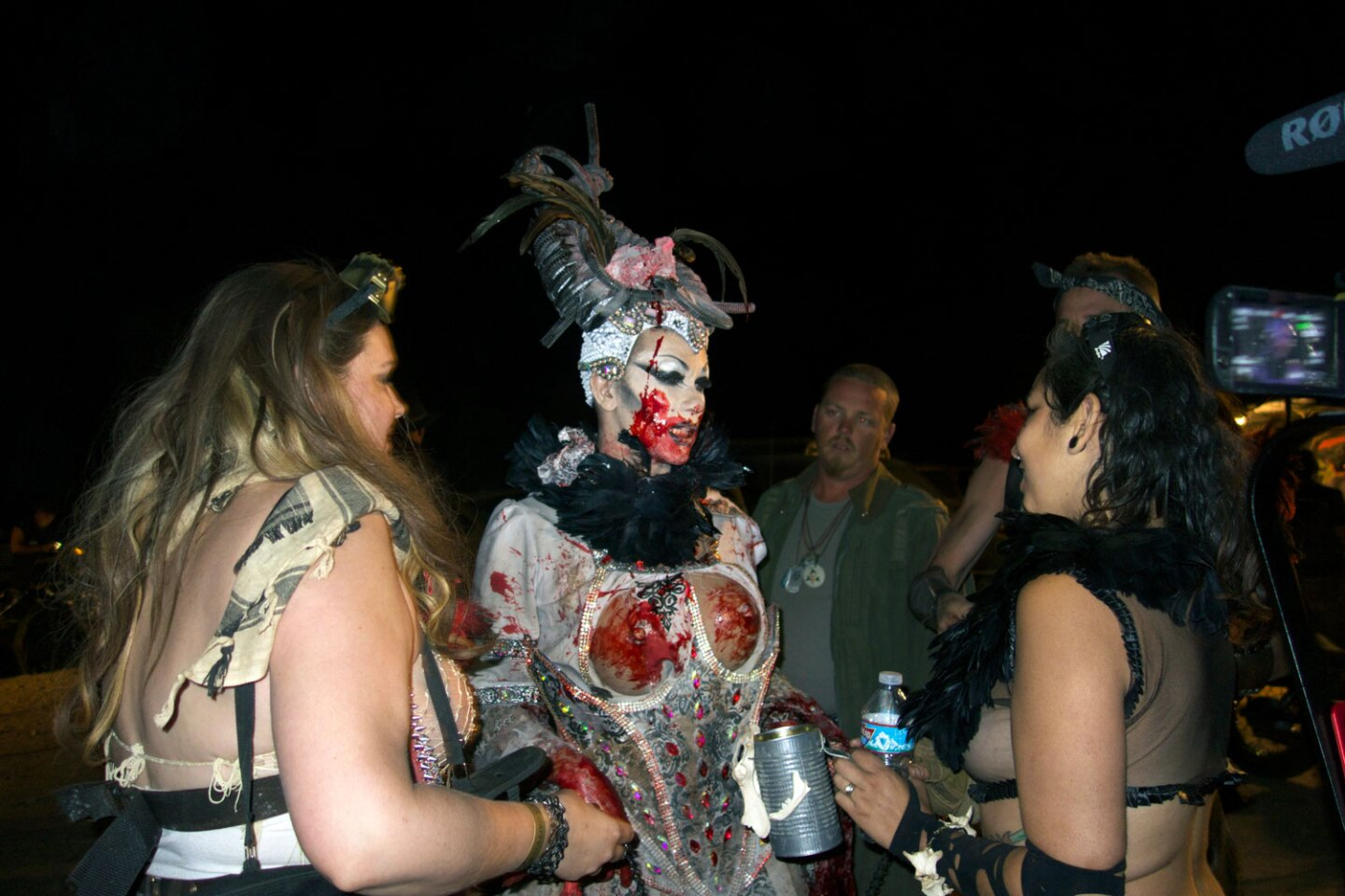 The bloody Lady Vajayjay after her performance on the Wasteland stage.