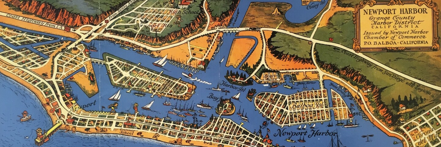 Map of Newport Harbor (cropped for header)