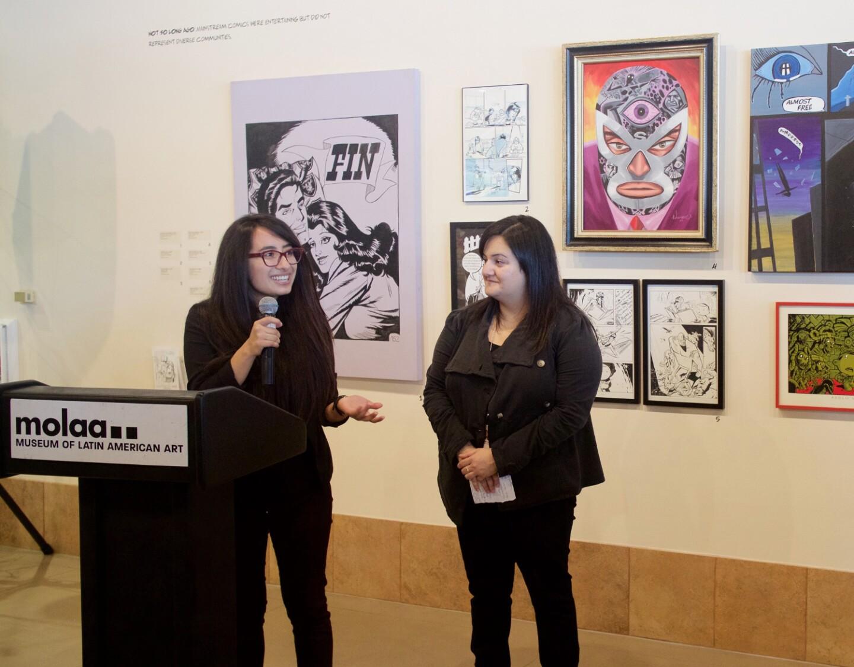 "Naiela Santana Esperanza Sanchez at ""Artists Assemble"" at MOLAA"