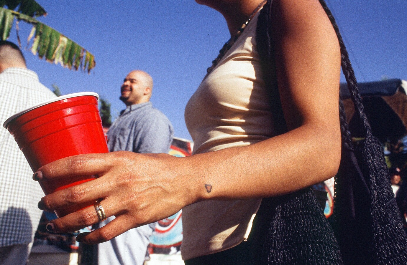 Red cup at a party