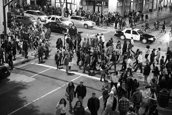 Crowds fill in the streets at June's Downtown Art Walk