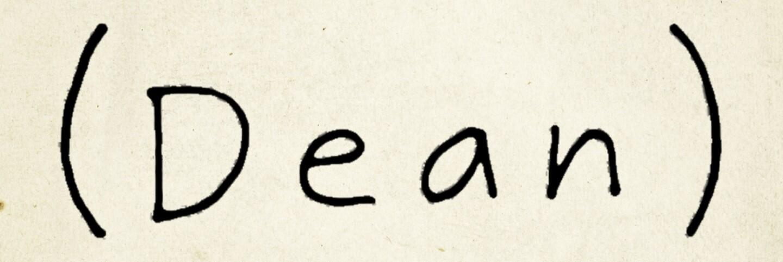 """Poster for """"Dean,"""" a film by Demetri Martin."""