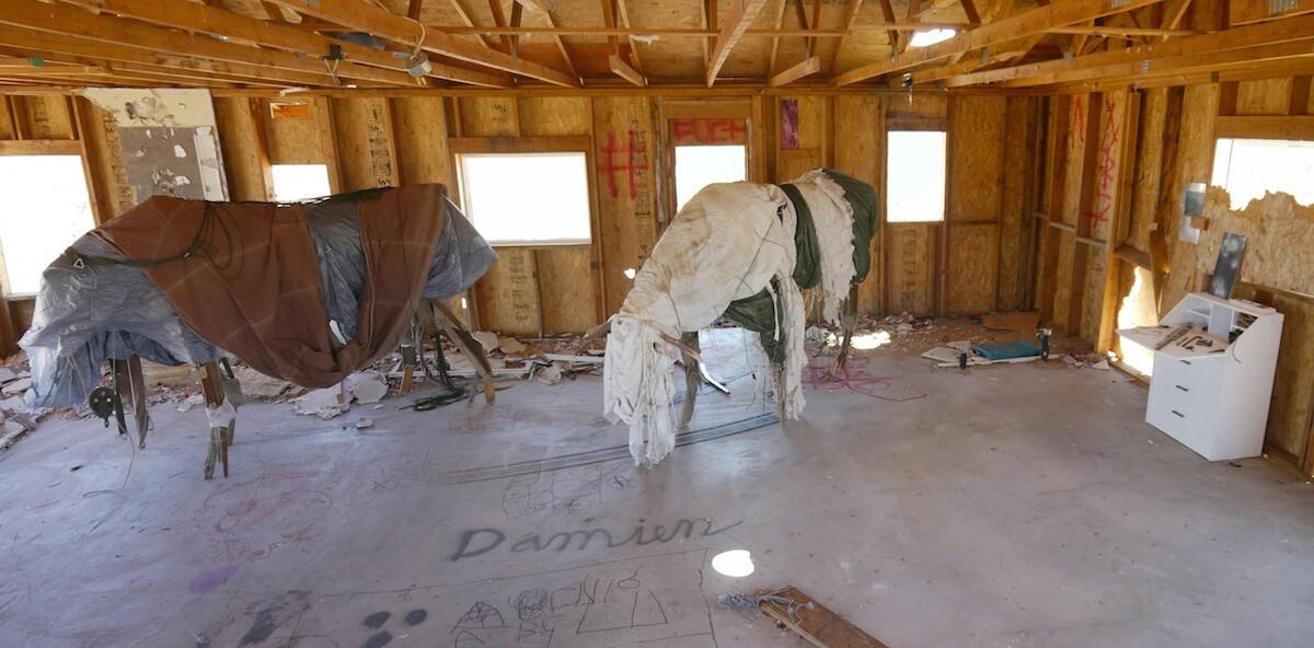 """Joe DeVera, """"34 13' 59"""" N 116 25' 00.9 W"""" art installation"""