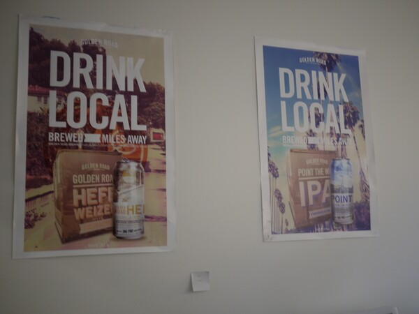 Golden Road Brewing 'Drink Local' posters with everyday L.A. images | Photo by George Villanueva