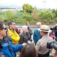 Mayor Eric Garcetti and EPA Administrator Gina McCarthy. Photo courtesy of Grove Pashley.