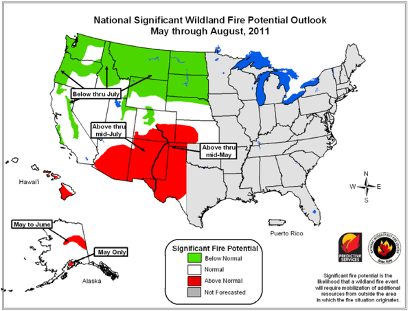 Fire risk for early 2011 | NIFC