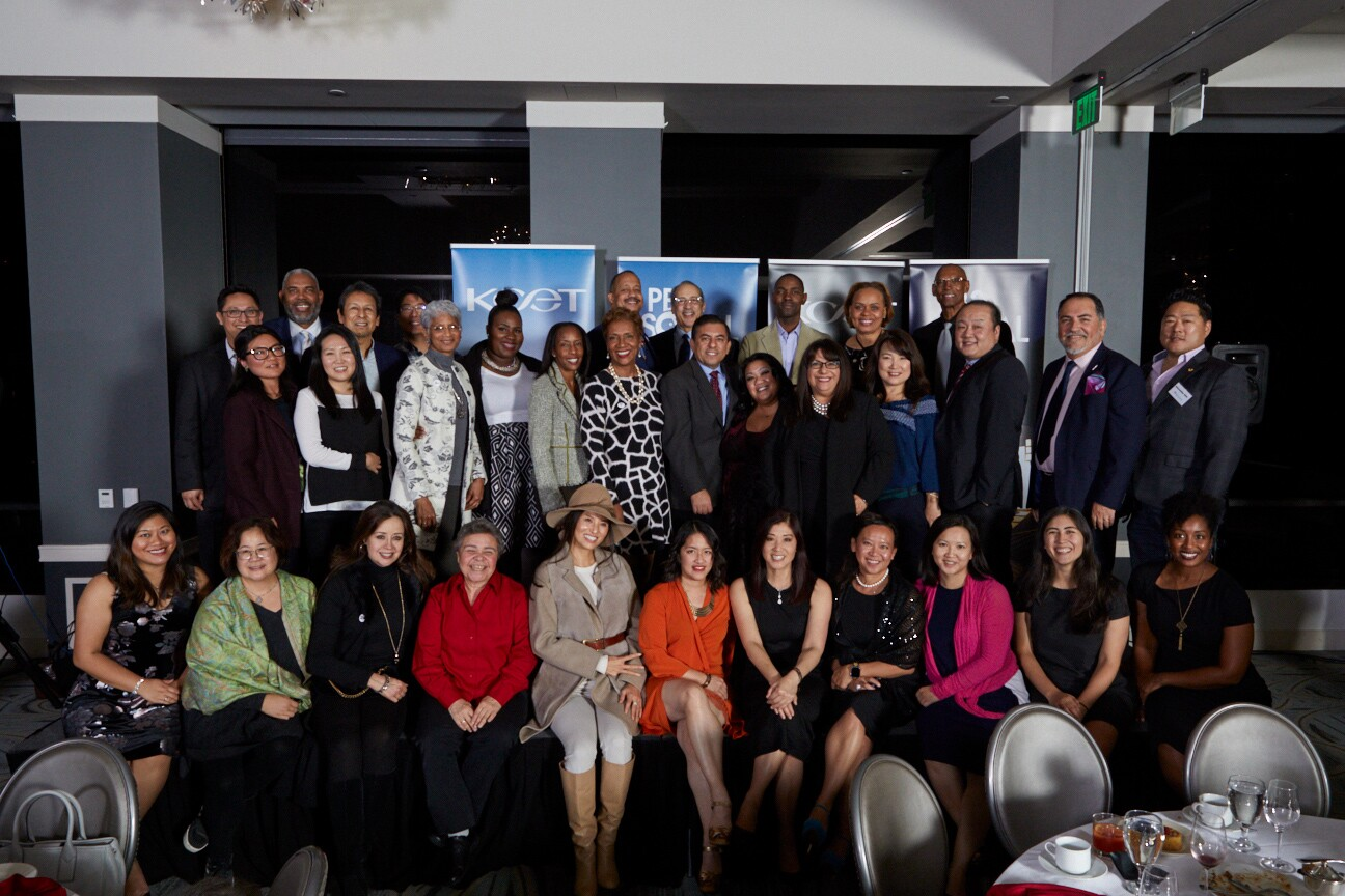 Community Advisory Board Council Members celebrate trailblazing community advocates at the KCET & PBS SoCal Holiday Community Celebration Dinner in Downtown LA on Dec. 10, 2019.