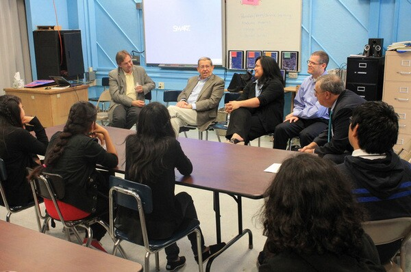 Foshay Tech students attend a Career Panel to ask questions from the experts