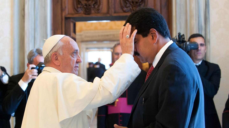 Pope Francis and Nicolas Maduro