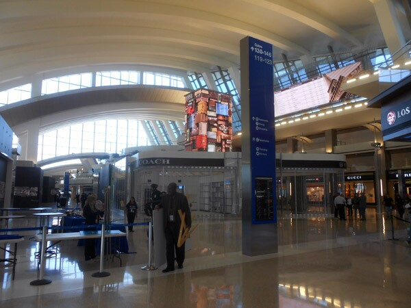 The Great Hall at the newly-expanded Tom Bradley International Terminal at LAX.